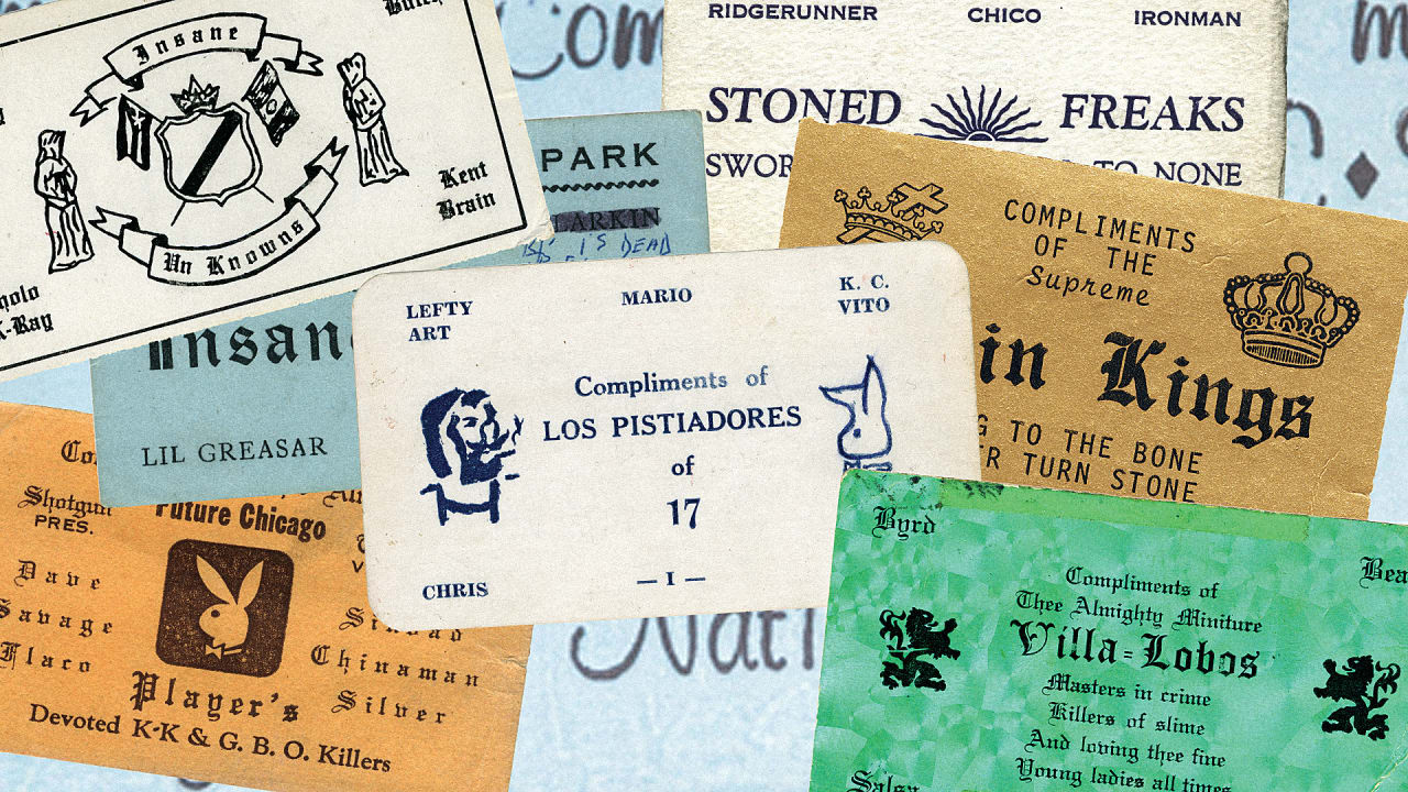 Decoding the symbols of 1970s gangsand their business cards buycottarizona Choice Image