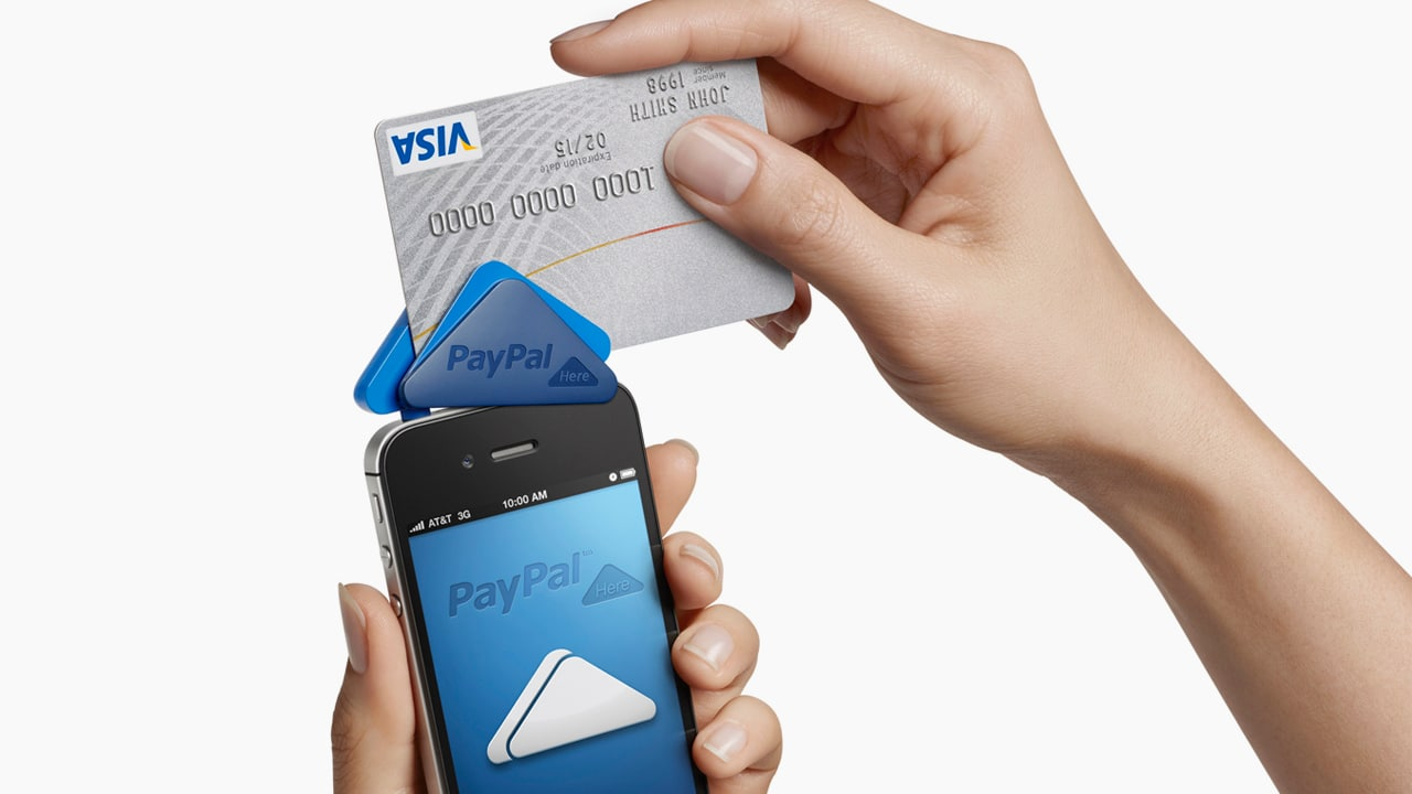 Paypal launches paypal here a competitor to square designed by yves b reheart Choice Image