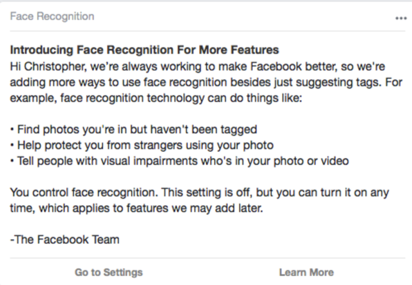 Facebook's Vaguely Worded Face Recognition 'Announcement' Coincided with a Legal Setback