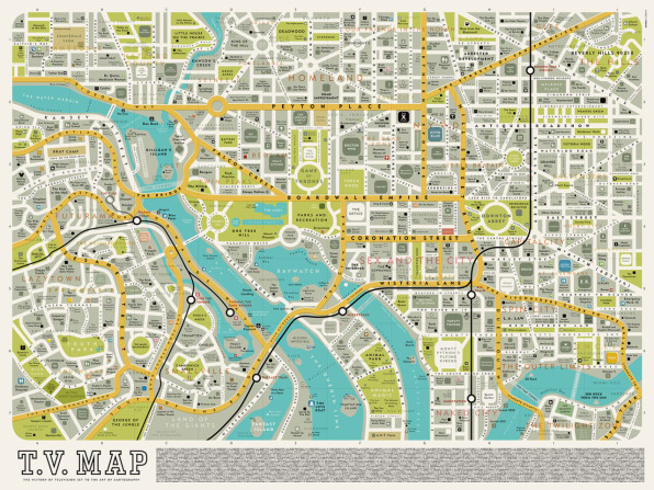 Infographic: A Map Of Famous Places From Your Favorite TV Shows on