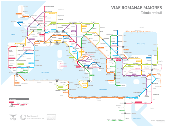 As A Subway Map.What The Roman Empire Would Have Looked Like As A Subway Map