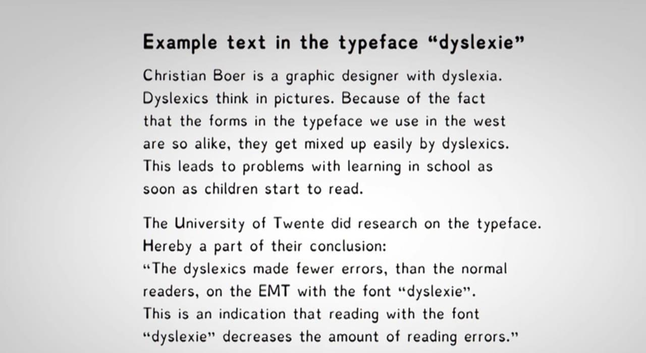 Dyslexie, A Typeface Designed To Help Dyslexics Read
