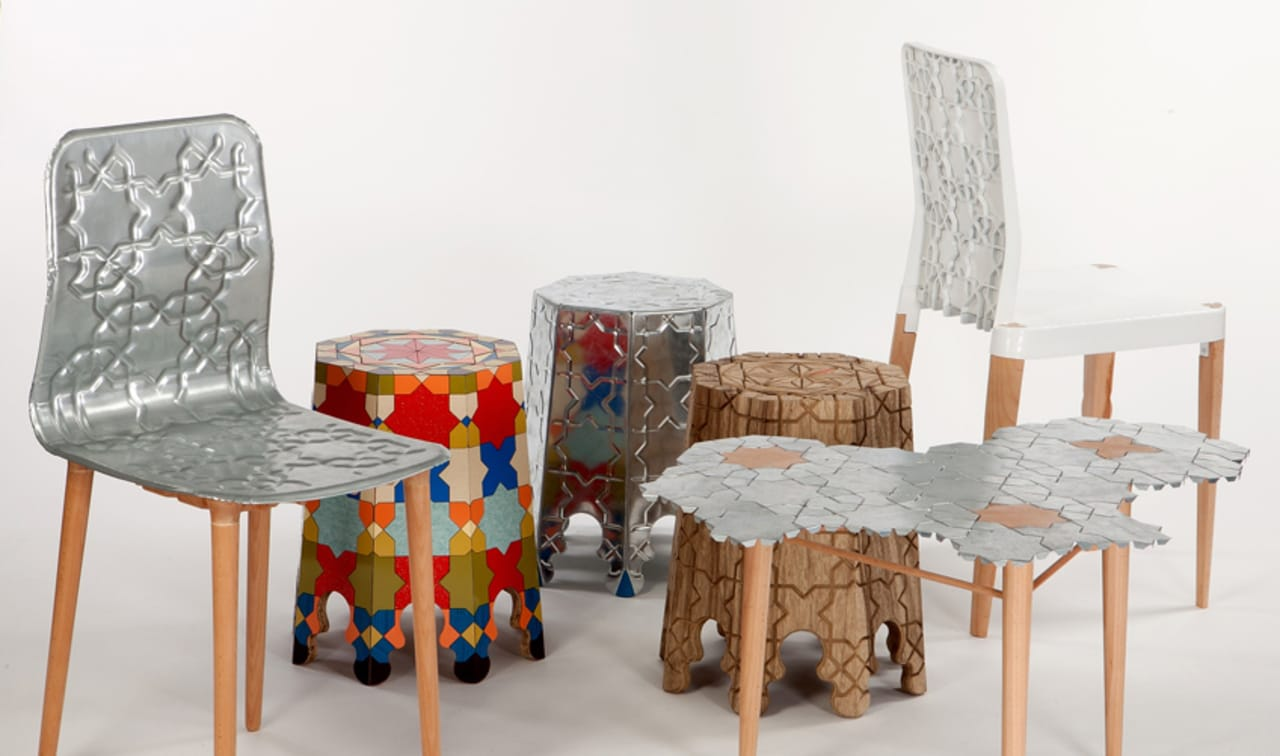 student's stunning furniture evokes motley origins of