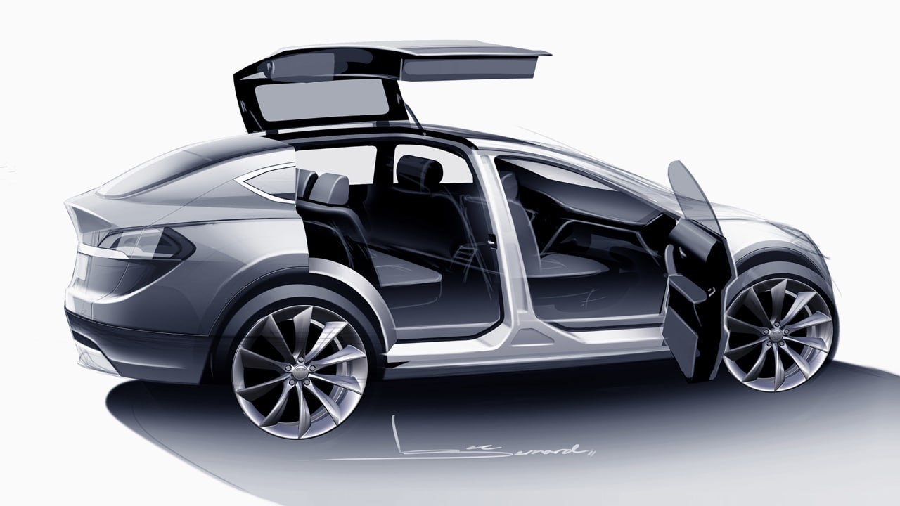 Tesla Model X, And The Curse Of Gull-Wing Doors