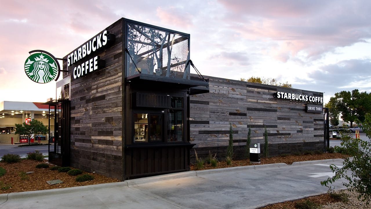 An Experimental New Starbucks Store: Tiny, Portable, And