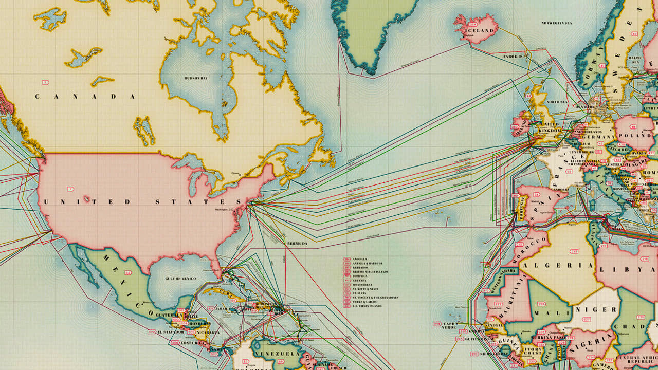 Infographic: The 550,000 Miles Of Undersea Cabling That ... on underwater communication cables, eastward of sea routes map, underwater fiber optic cables, underwater pacific ocean map, pse kv transmission line map, napoli map,
