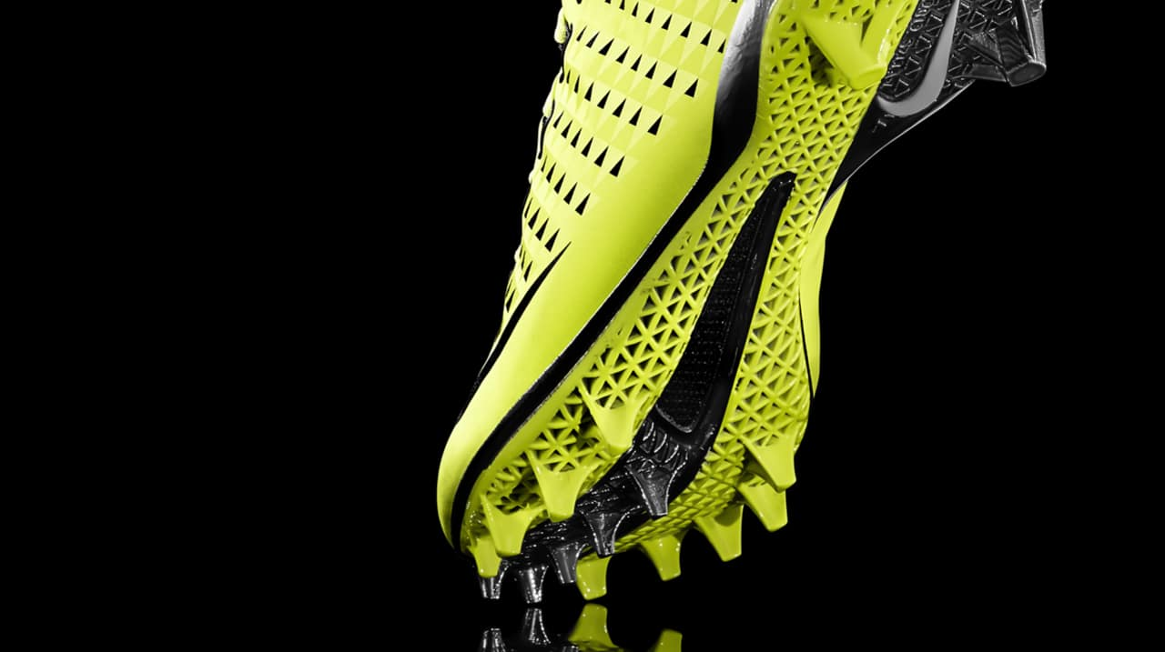 ac5ba5acb3df Nike Vapor Laser Talon: Football's First 3-D Printed Shoes
