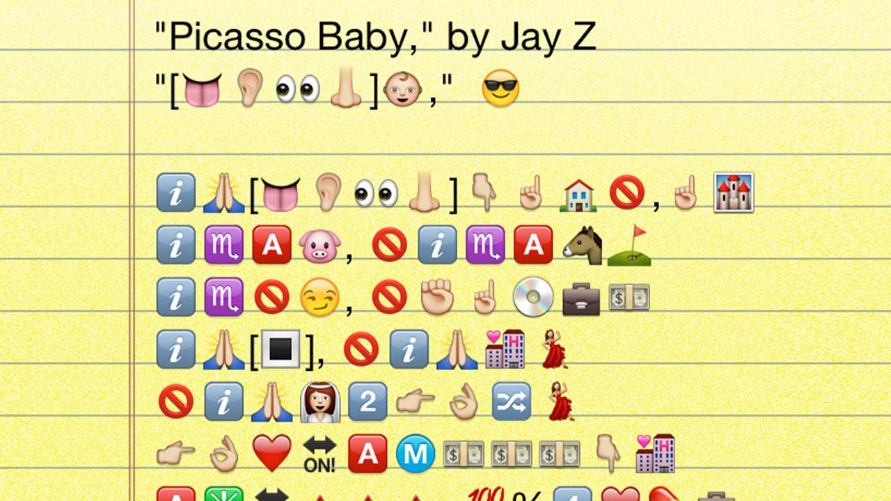"Emoji Major No. 2: Jay Z's ""Picasso Baby"""