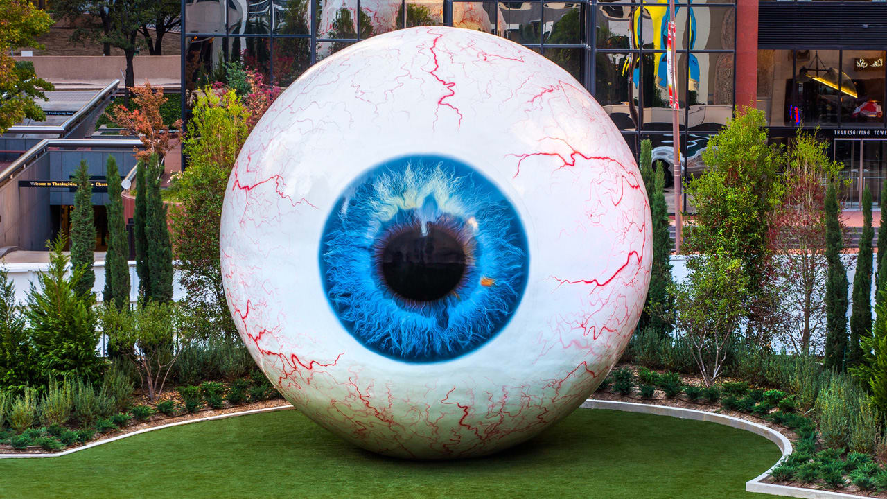 There Is A 30-Foot-Tall Eyeball In Downtown Dallas
