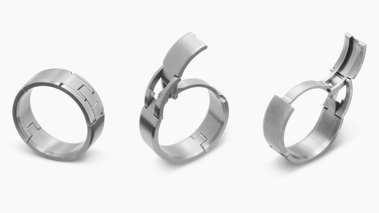 A Safer Wedding Band For Active Husbands