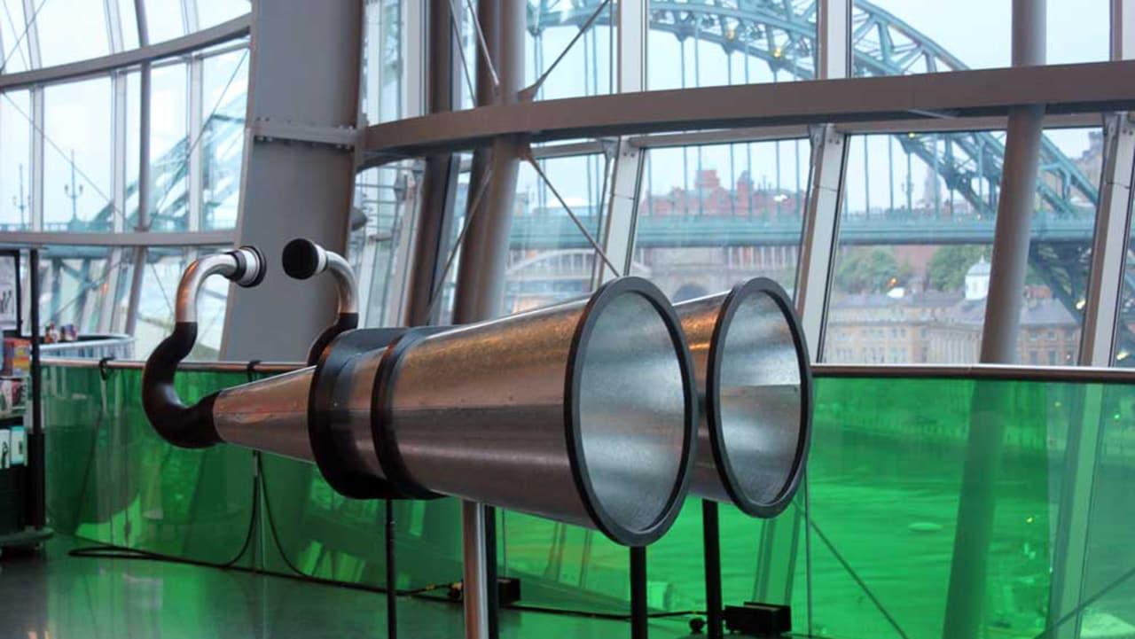 Giant Ear Binoculars Hear A City In The Distance