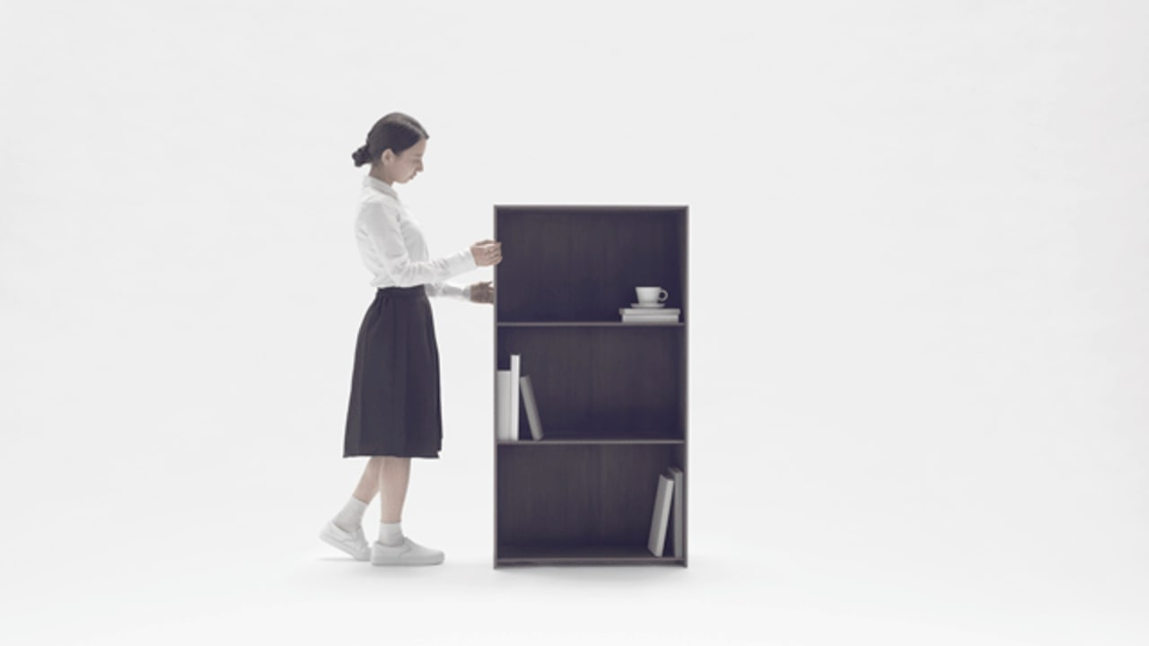 Nendo's Carbon Fiber Bookshelf Stretches To Any Size You Need
