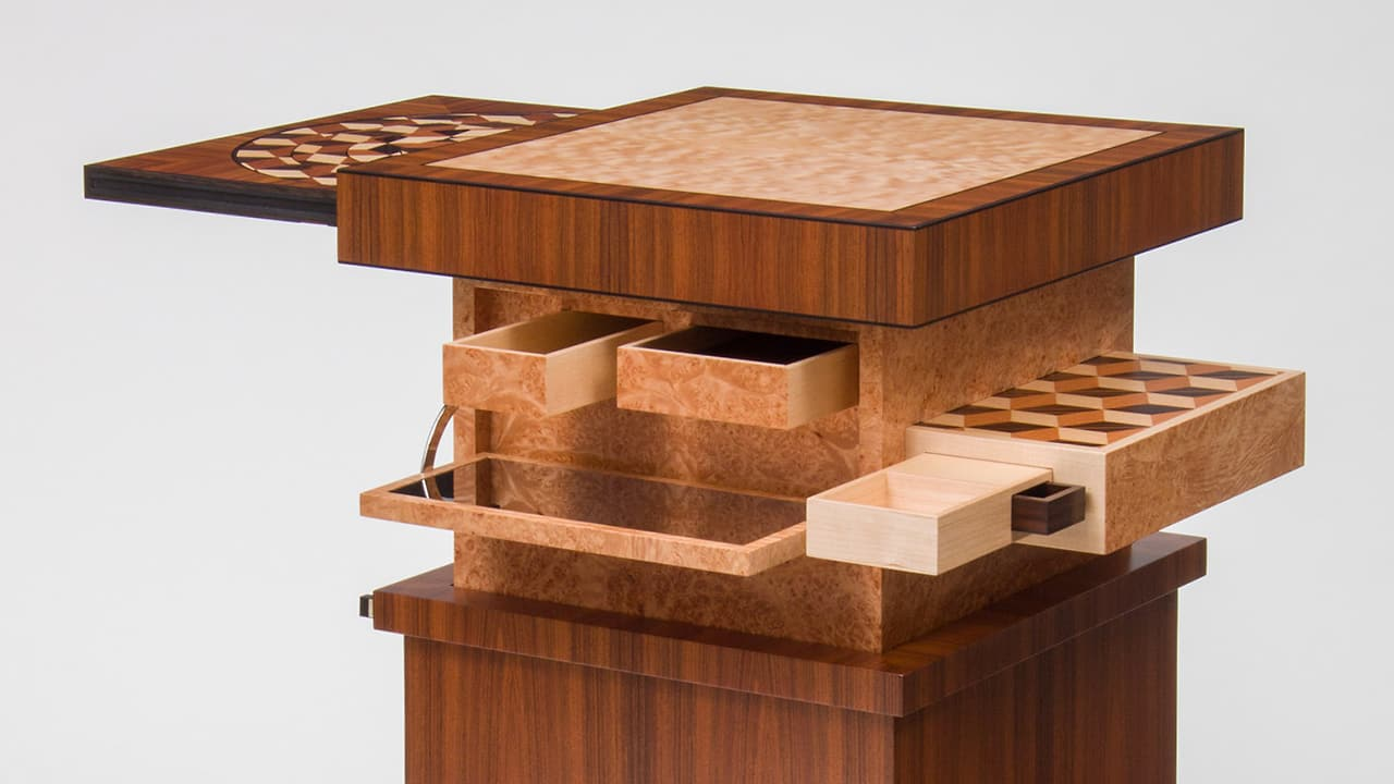 This Astonishing Puzzle Table Has More Secrets Than Surfaces Jpg 1280x720 Puzzle  Tables With Drawers
