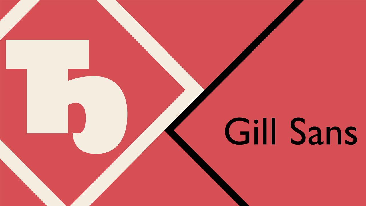 gill sans font free download microsoft
