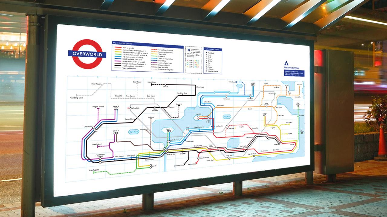 Subway Map 6.6 Classic Nintendo Gameworlds Redrawn As Subway Maps