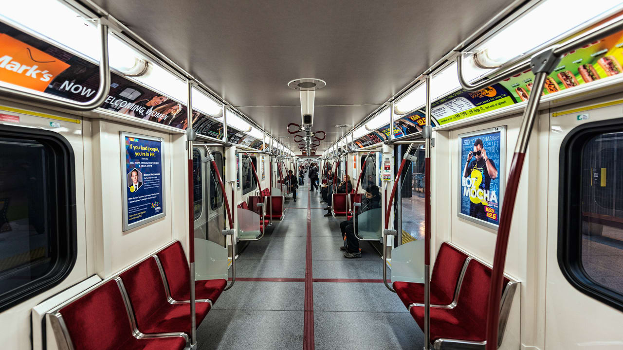 1 Train Toronto Subway Map Nyc.How Nyc Is Subtly Redesigning The Subway Car For City Dwellers Of 2050