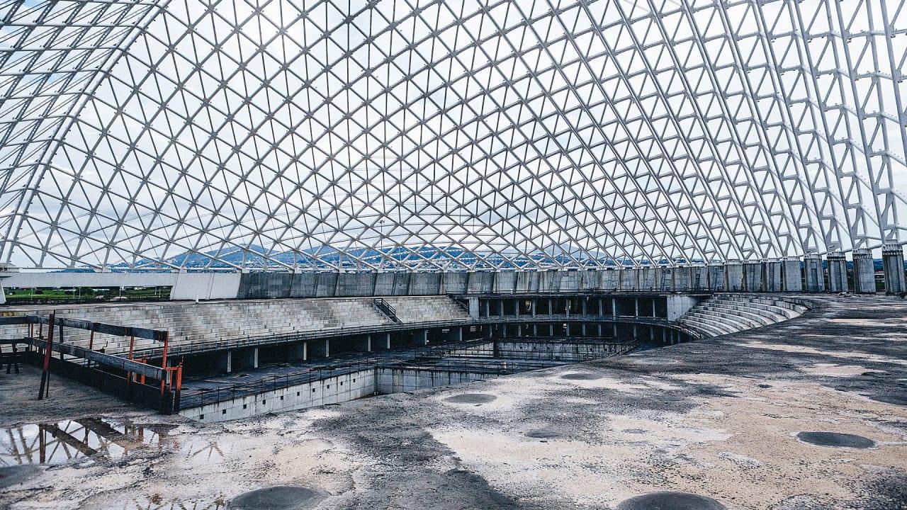 Inside The Half-Built Skeleton Of Calatrava's Other Boondoggle