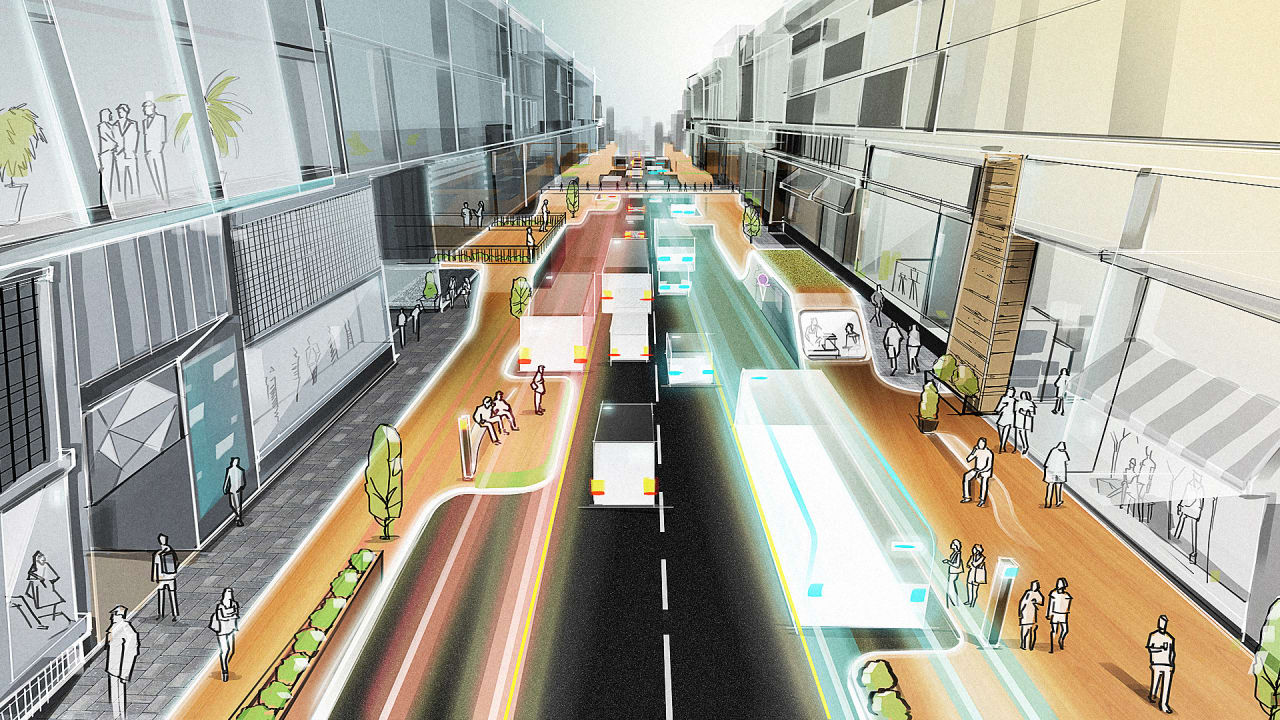 Self-Driving Cars Could Revolutionize Our Sidewalks, Too