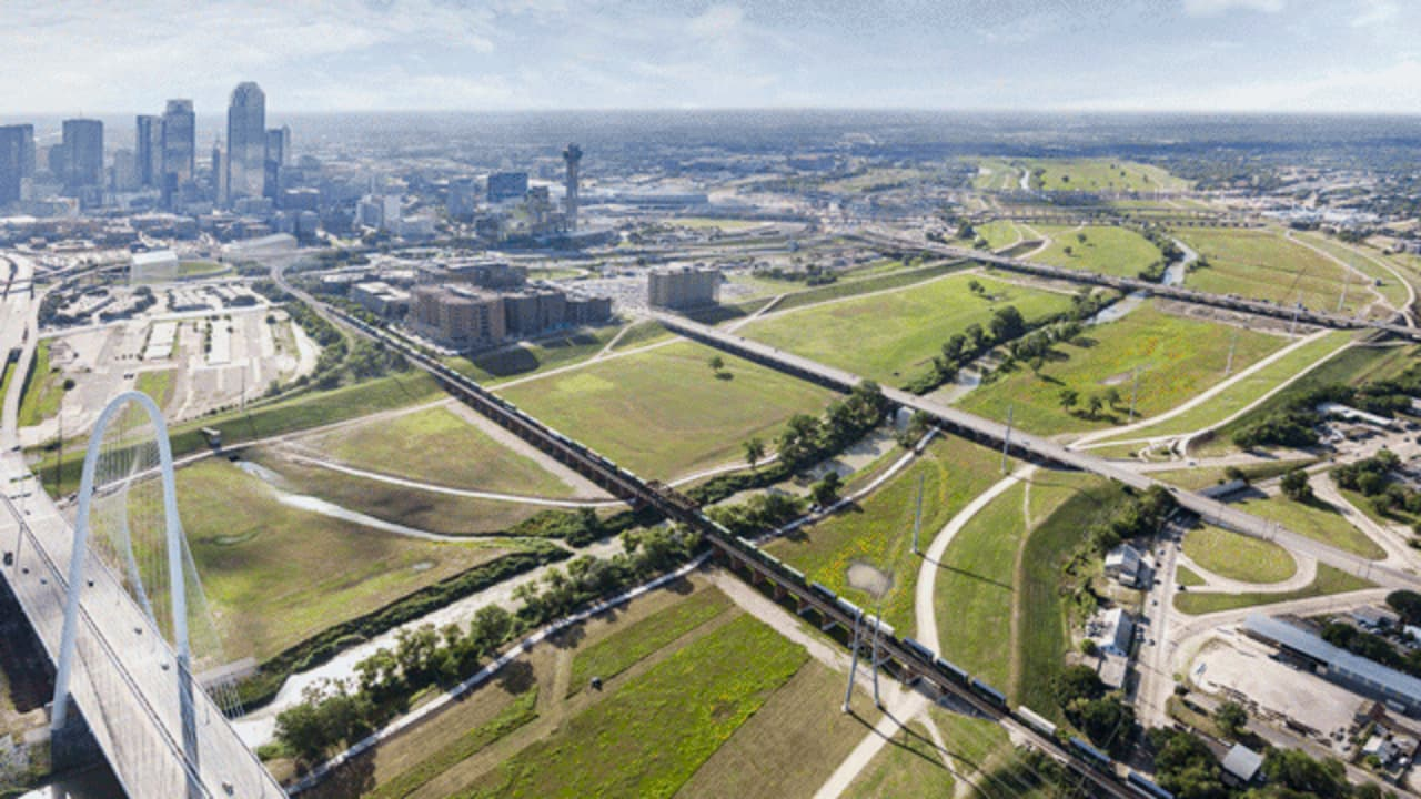 This New Riverside Park In Dallas Is Designed To Fill With Water When It Floods