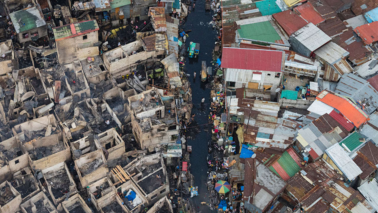 most densely populated area