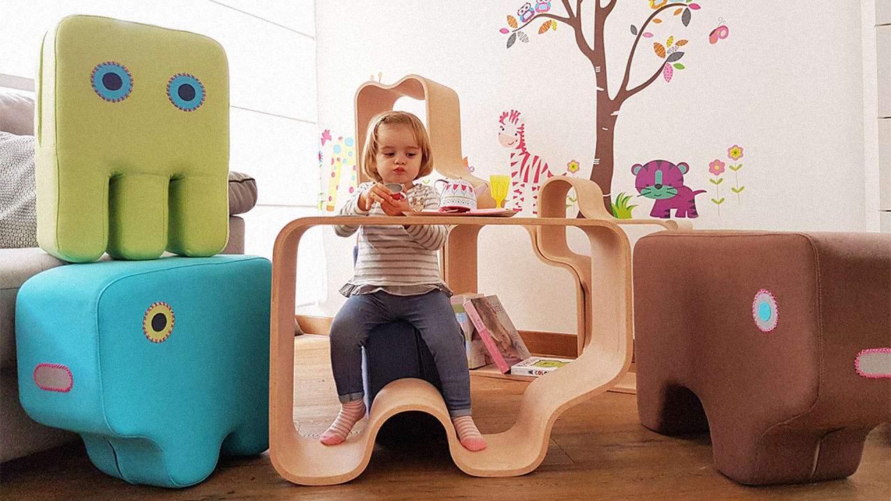 This whimsical toy puzzle is actually furniture