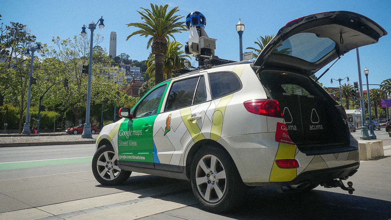 These Google StreetView Cars Are Now Mapping And Measuring ... on google earth camera car, google street view car, maps car with camera,