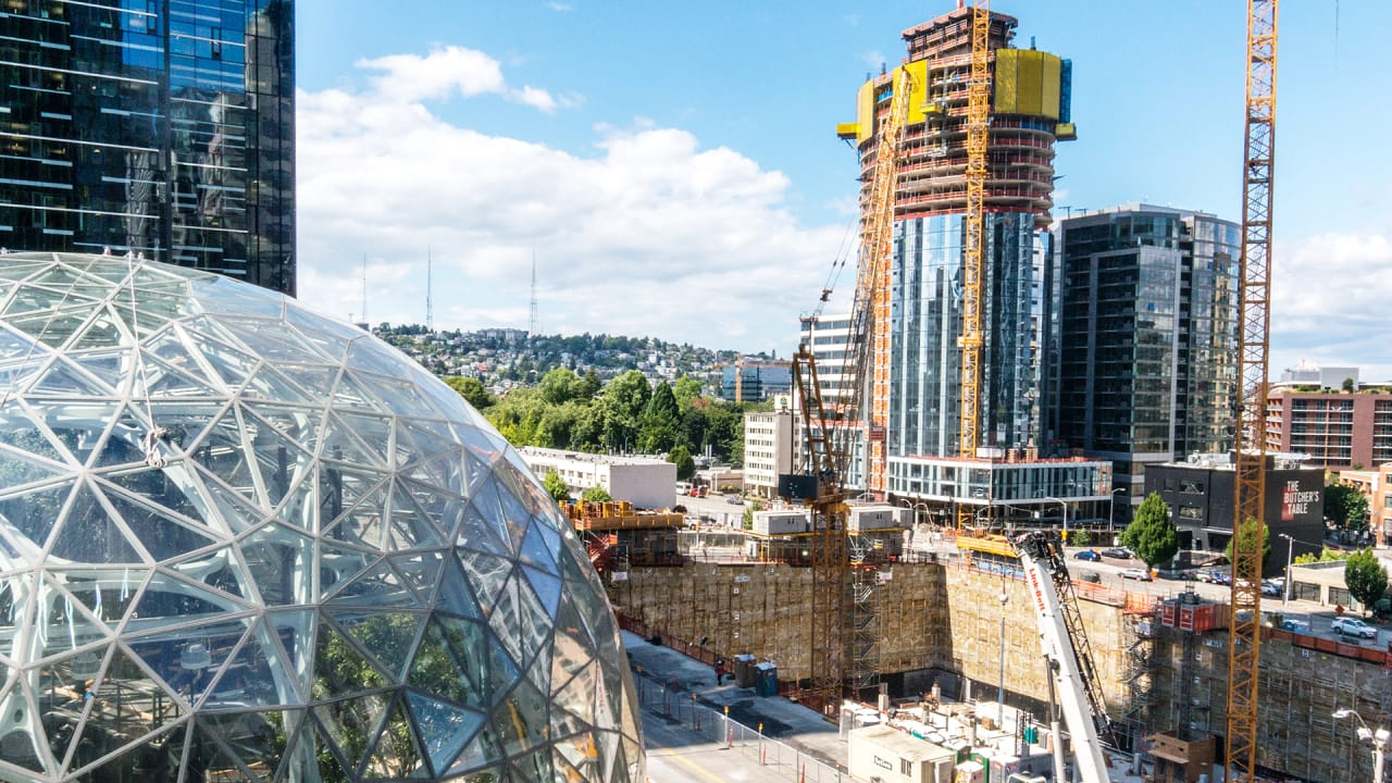 Amazon South Lake Union Campus Map.How Amazon S Nonstop Growth Is Creating A Brand New Seattle