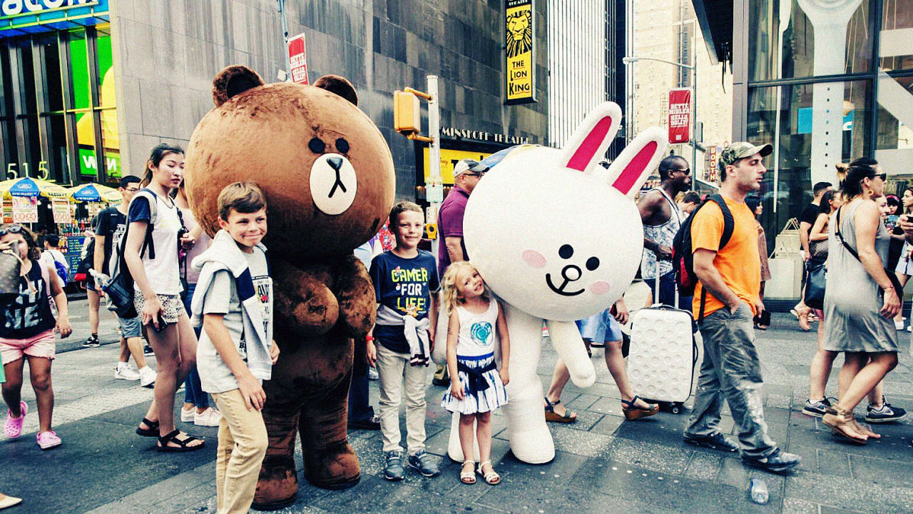 571864303 Japan's Line App Opens a Times Square Store (And Gets Ready To Take On