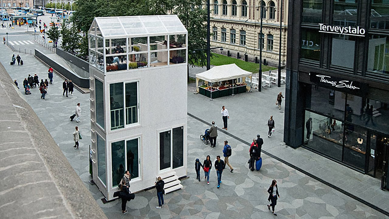 This Three-Story Tiny House Fits In The Footprint Of A Parking Space