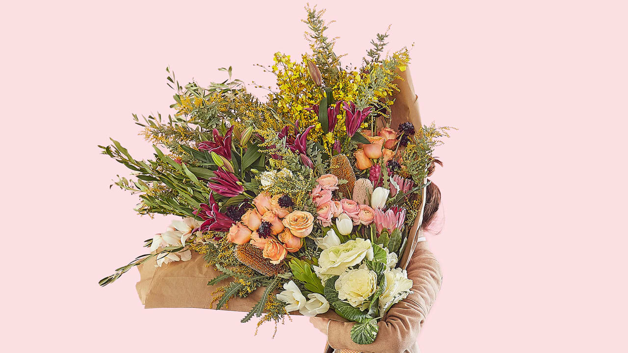 this 499 human sized flower bouquet will take your v day game all the