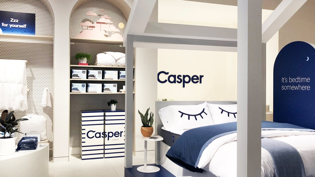casper just opened its first permanent store so you can take a nap in. Black Bedroom Furniture Sets. Home Design Ideas