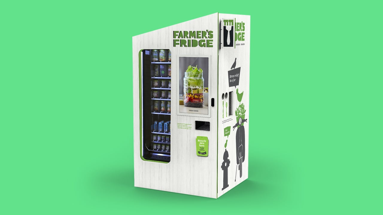 these salad vending machines have become one of chicago s hot lunch sp. Black Bedroom Furniture Sets. Home Design Ideas