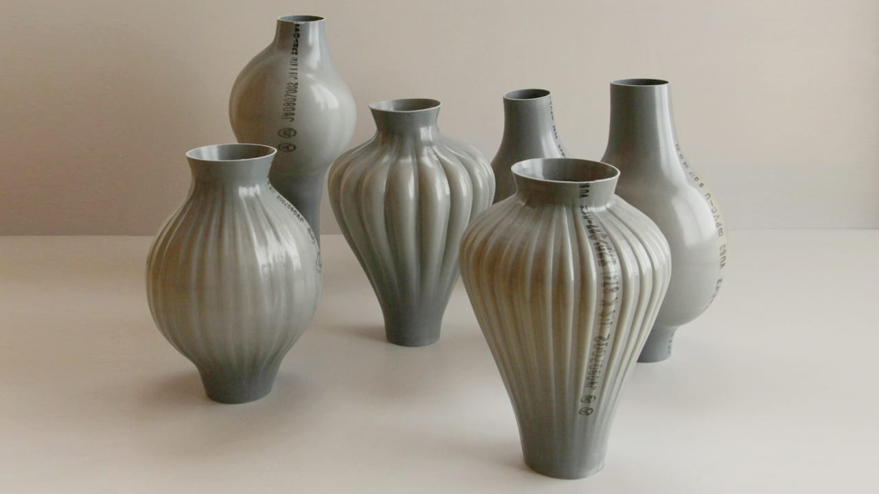 These Gorgeous Vases Are Made Of The World's Homeliest Material