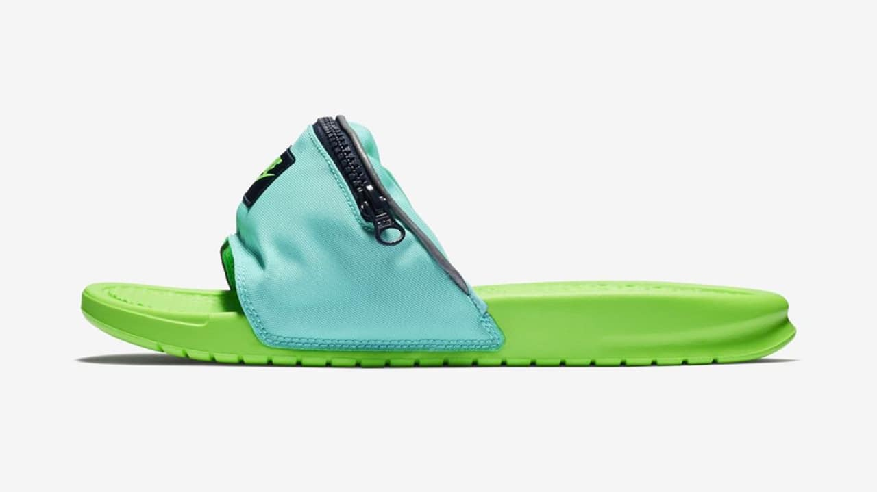Think shoes can t get uglier  Check out these fanny pack slides ed0bd5916
