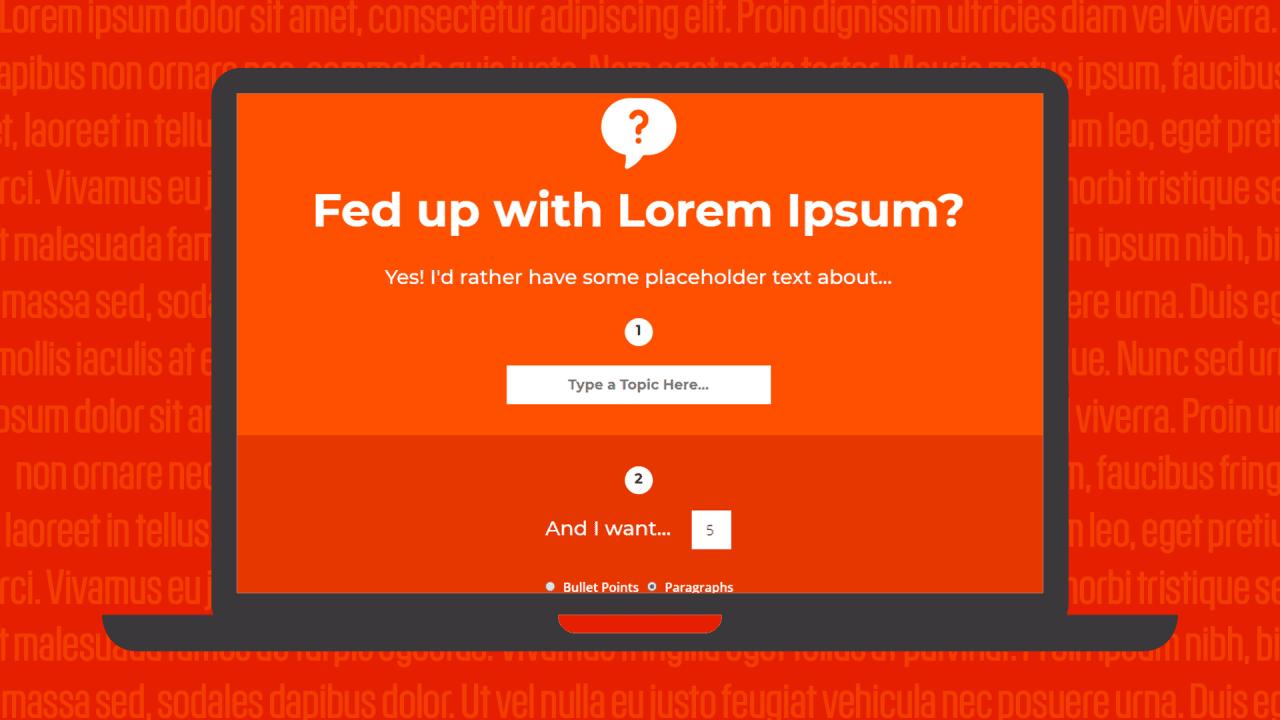 Finally, a smarter alternative to lorem ipsum