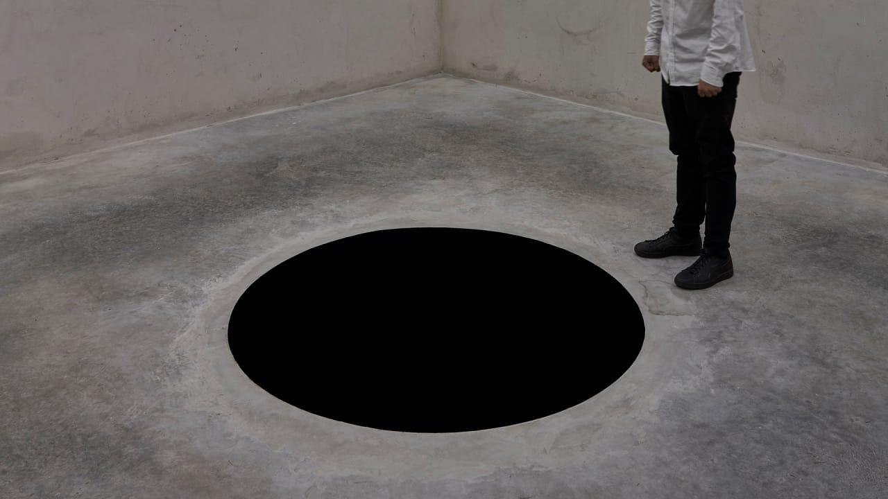 Someone Fell into Artist Anish Kapoor's Black Hole Installation