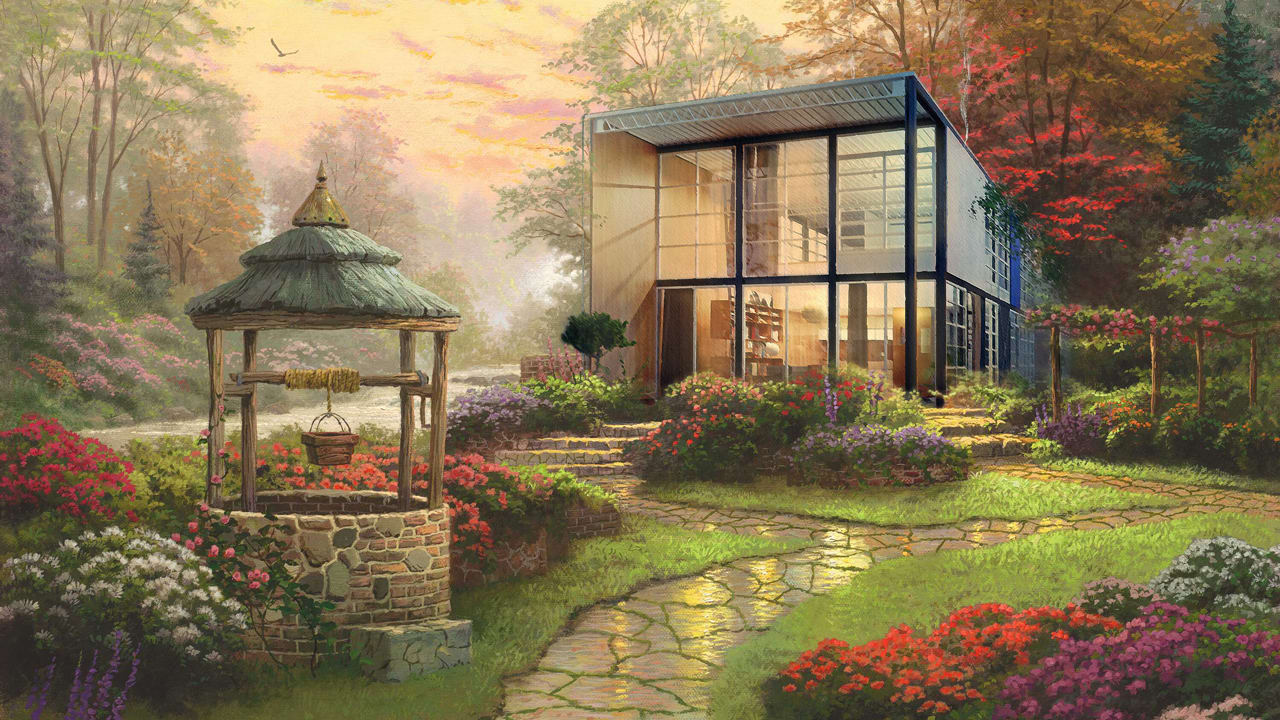 Mid century Modernism Rendered As Thomas Kinkade Paintings