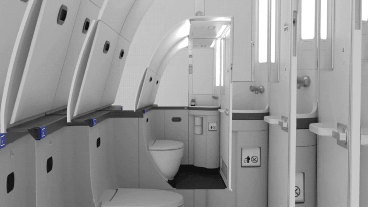 This Is Why Your Airplane Bathroom Feels So Small