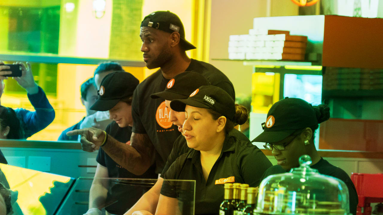 046fae9f984 How Blaze Pizza represents LeBron James s brand strategy