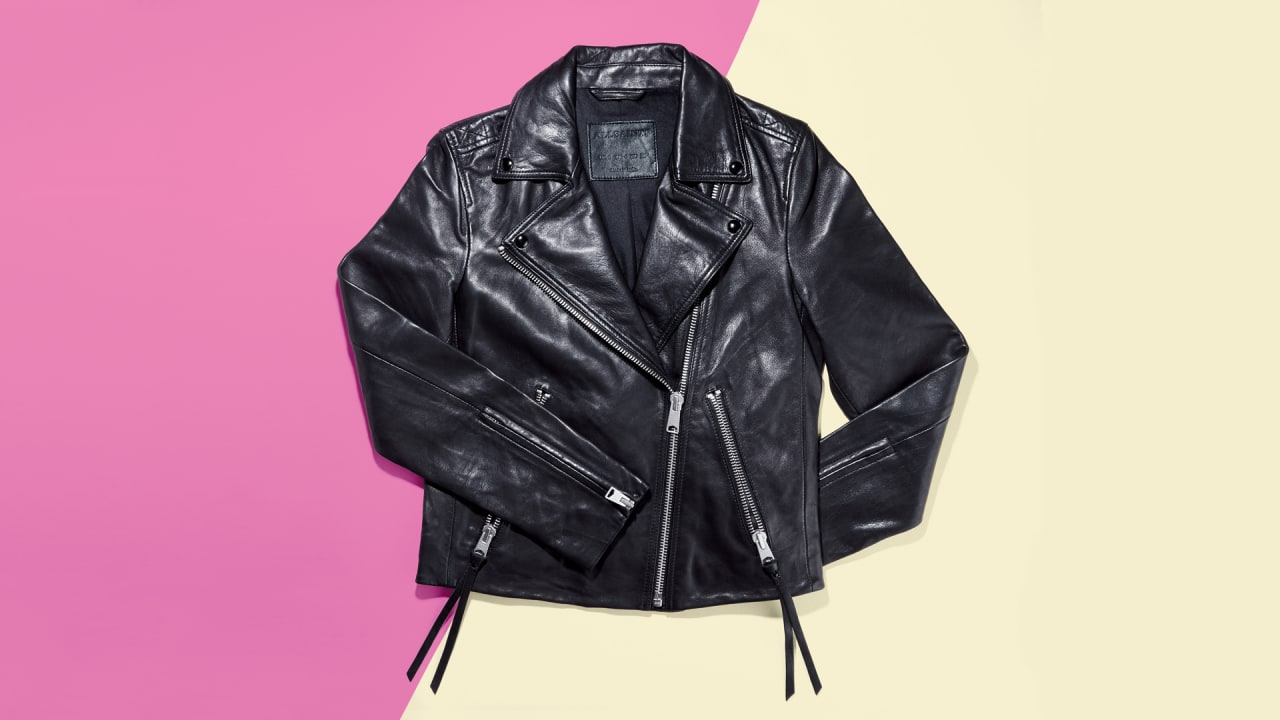 Why you need this AllSaints leather biker jacket