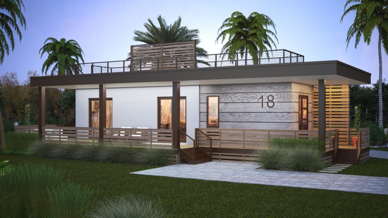 This new Florida neighborhood has zero emissions, tons of smart tech, and is hurricane-proof