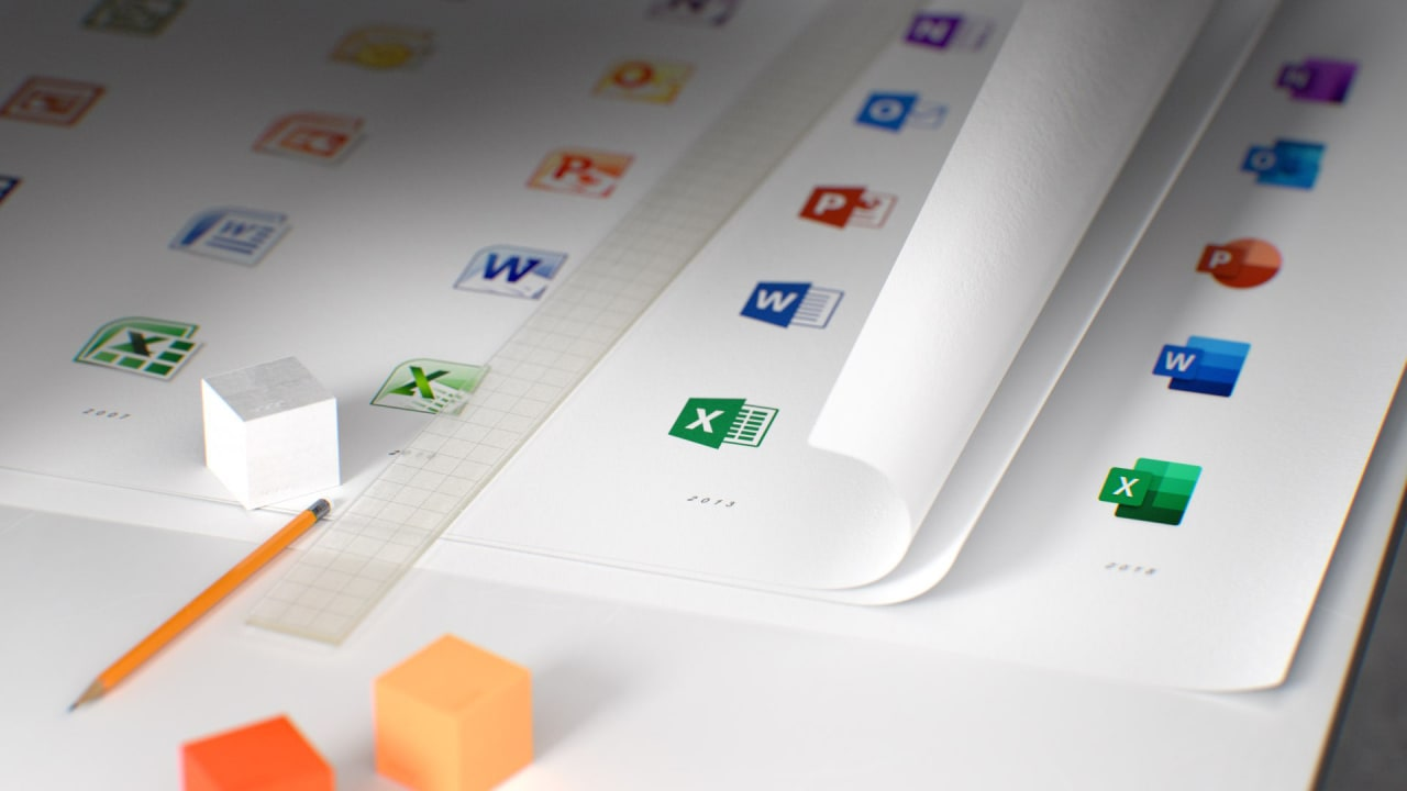 microsoft gives its office apps new icons