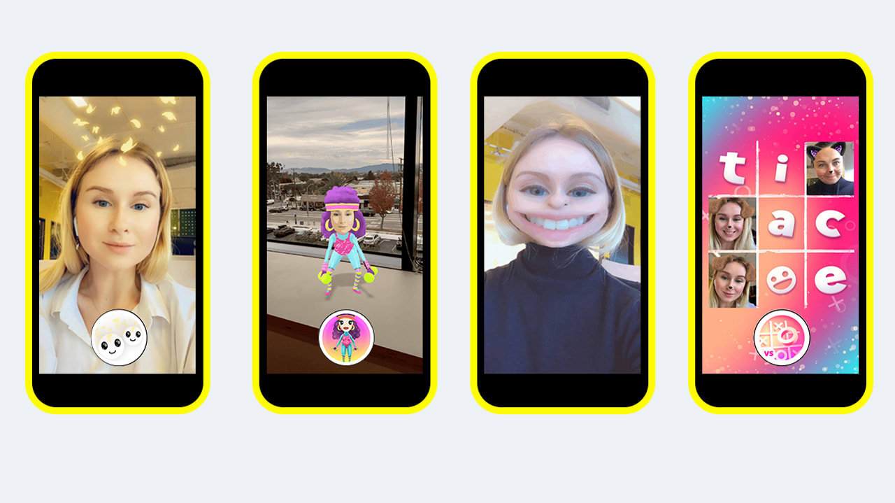 These were Snapchat's most popular lenses, Bitmojis, and
