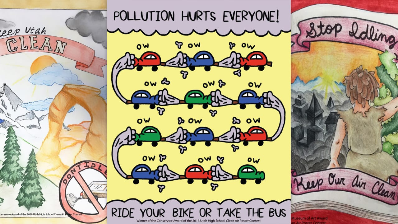 Utah teens design posters calling for action on air quality
