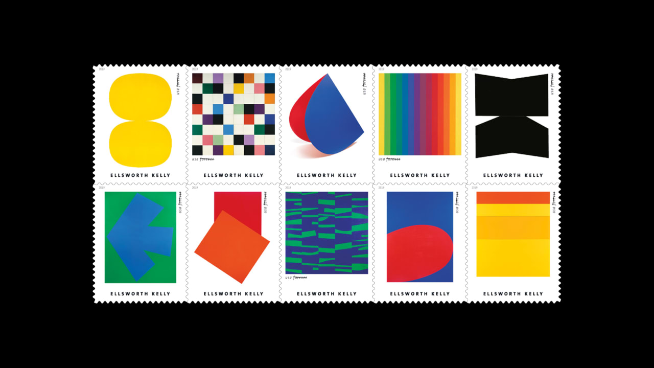 The best new USPS stamps are by Ellsworth Kelly