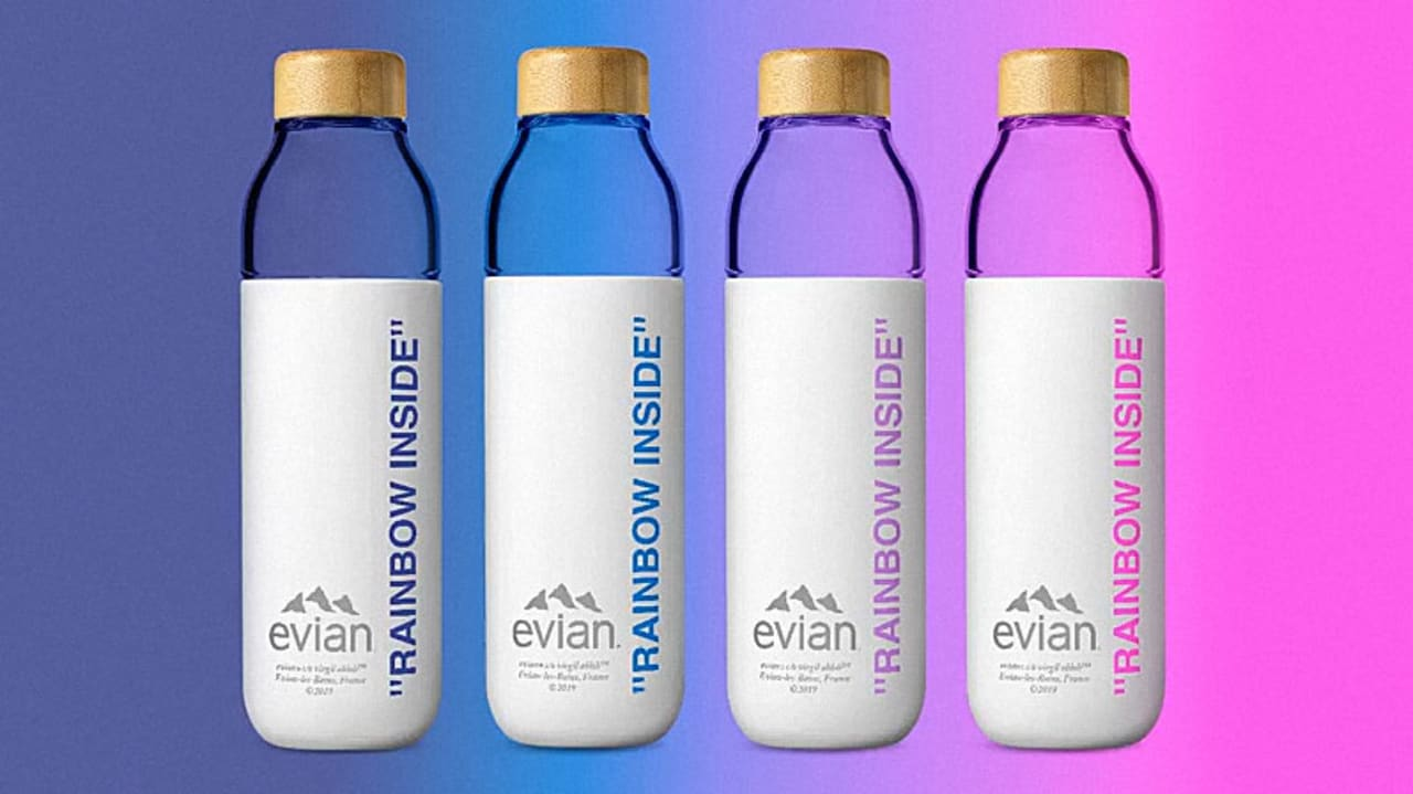 d2fa347714ab Evian enlists Virgil Abloh to make reusable bottles fashionable