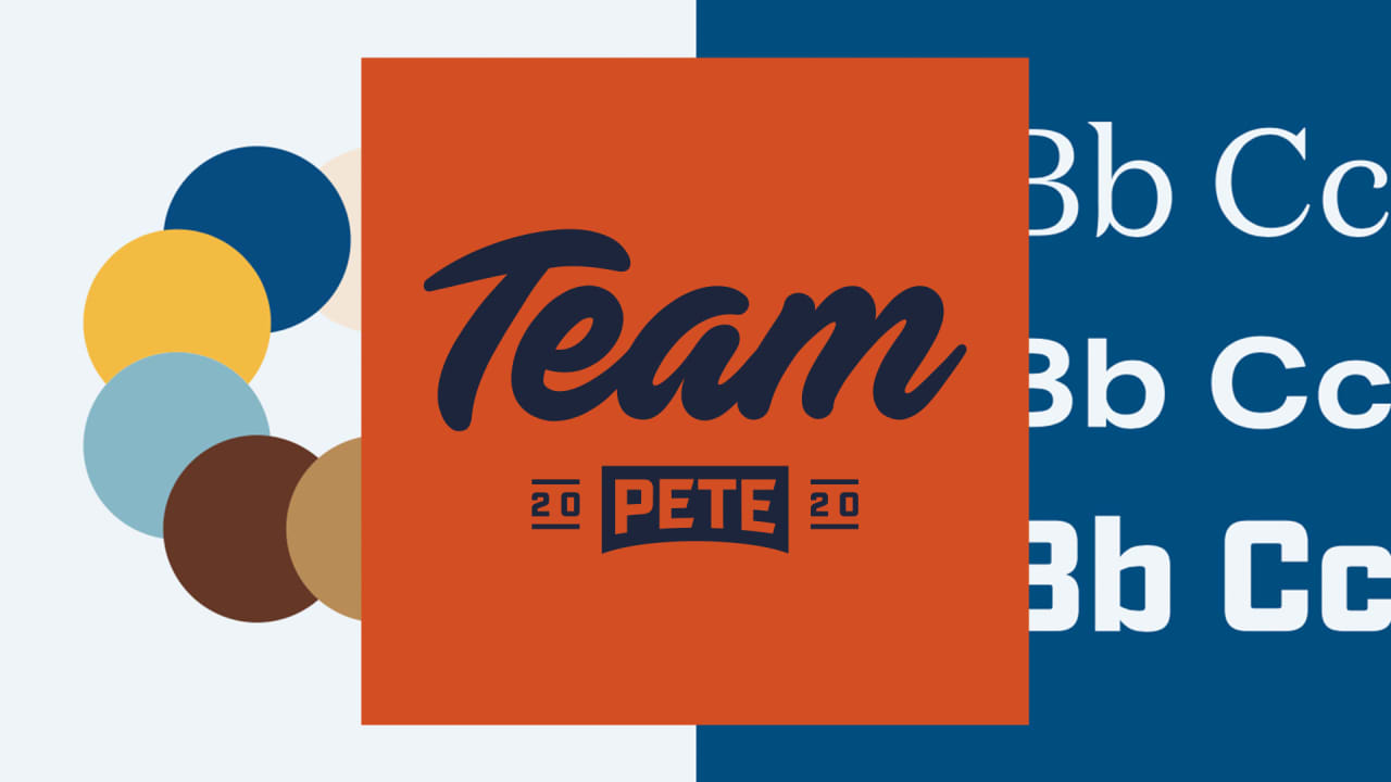 See Pete Buttigieg's logo and branding for the 2020