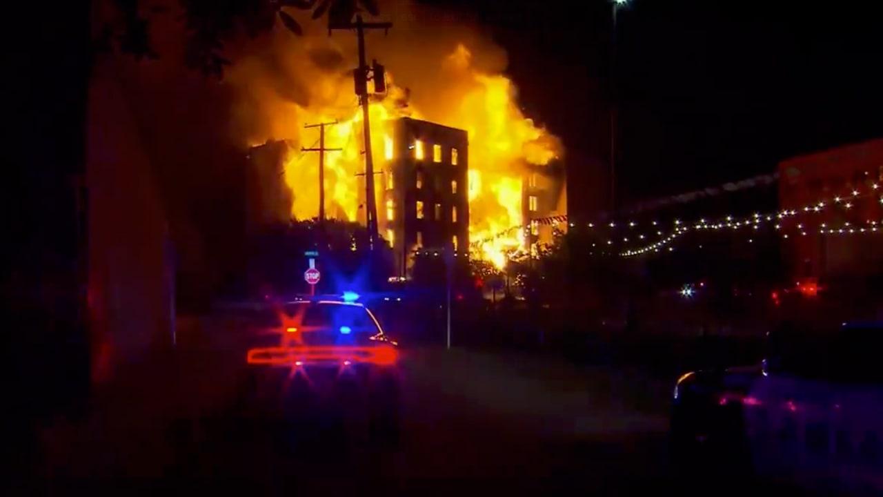 Dallas Auto Show >> Dallas hotel fire: Videos, photos show Ambassador destroyed