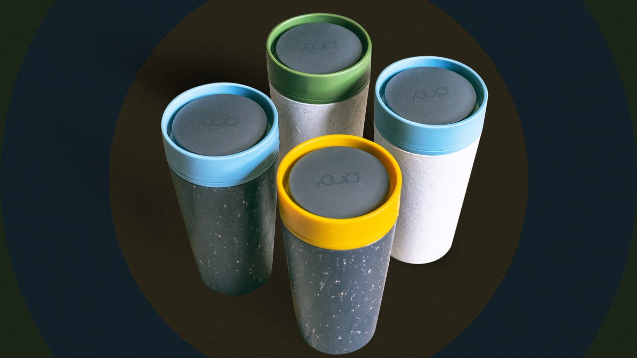 Rcup Is A Reusable Mug Made From Recycled Coffee Cups