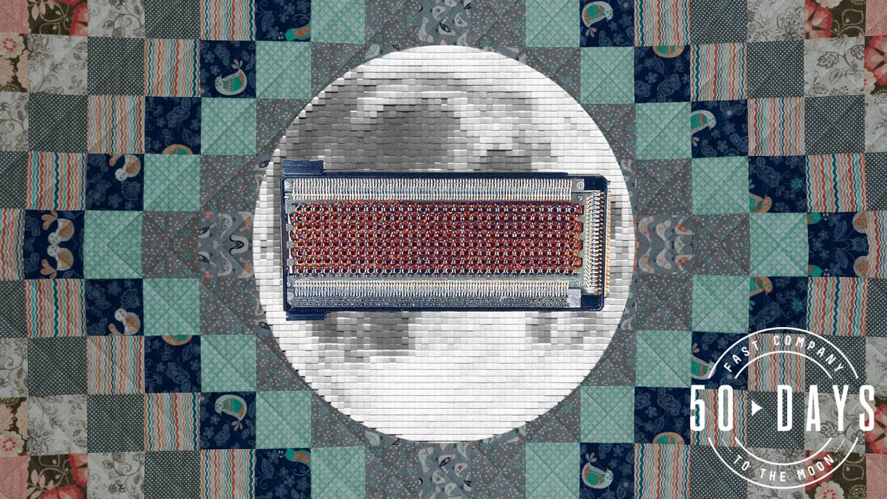 Image result for The guts of NASA's pioneering Apollo computer were handwoven like a quilt